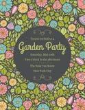 Invitation florale quatre de ressort Photo stock