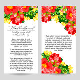 Invitation florale romantique Photos stock