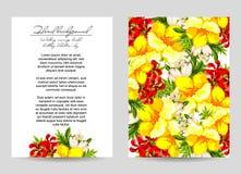Invitation florale romantique Image libre de droits