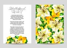 Invitation florale romantique Image stock