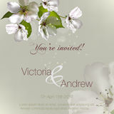 invitation with flowers Apple Royalty Free Stock Photo