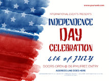 Invitation Flyer for 4th of July celebration. Stock Photos