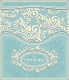 Invitation or Frame in Decorative floral backgroun Stock Photography
