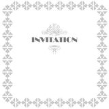 Invitation frame design Royalty Free Stock Images