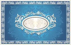 Invitation or frame with Floral background Stock Images