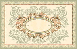Invitation or frame or label with Floral backgrou Royalty Free Stock Photos