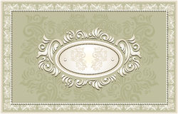 Invitation or frame or label with Floral backgroun Stock Photos