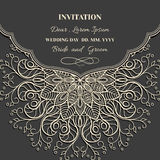 Invitation frame lace Royalty Free Stock Images