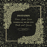 Invitation frame lace Stock Images