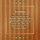 Invitation with glass stones. Postcard with emerald . Vector template for VIP greeting card. Royalty Free Stock Photos