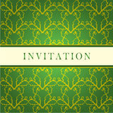 Invitation green card Stock Images