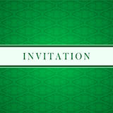 Invitation green card Royalty Free Stock Photo