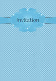 Invitation or greeting card for boys Royalty Free Stock Photography