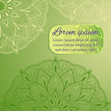 Invitation, greeting card, congratulation, postcard, banner, flyer with mandalas. Royalty Free Stock Images