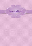 Invitation or greeting card for girls Stock Photos