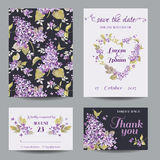 Invitation or Greeting Card Set Royalty Free Stock Photos