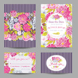 Invitation or Greeting Card Set Royalty Free Stock Photography