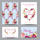 Invitation or Greeting Card Set Stock Image