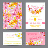 Invitation or Greeting Card Set Royalty Free Stock Images