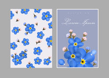 Invitation or Greeting Card Set - for Wedding, Baby Shower - in vector Stock Photography