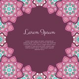 Abstract ornamental background. Invitation or greeting card template with abstract ornament. Hand drawn vector illustration vector illustration