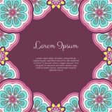 Abstract ornamental background. Invitation or greeting card template with abstract ornament. Hand drawn vector illustration royalty free illustration
