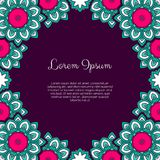 Abstract ornamental background. Invitation or greeting card template with abstract ornament. Hand drawn vector illustration Royalty Free Stock Photos