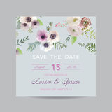 Invitation or Greeting Card for Wedding Stock Photos