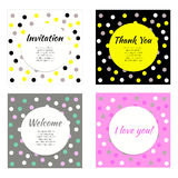 Invitation, greeting cards. Vector set of frames, banners, postcards, flyers, birthday, wedding Royalty Free Stock Photo