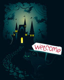 Invitation for Halloween. Invitation card for Halloween party Stock Photo
