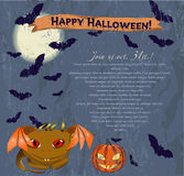 Invitation Halloween poster. Royalty Free Stock Photo