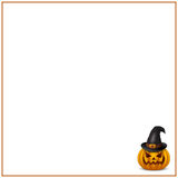 Invitation for Halloween with space for text. Vector illustration royalty free illustration