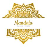 Invitation with hand drawn mandala pattern. Royalty Free Stock Photos
