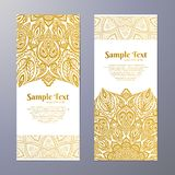 Invitation with hand drawn mandala pattern. Royalty Free Stock Photo
