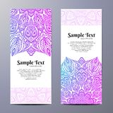 Invitation with hand drawn mandala pattern. Stock Images