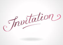 'Invitation' hand-lettering Royalty Free Stock Images