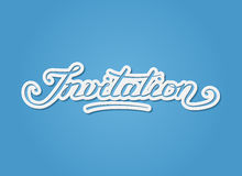 'Invitation' hand-lettering Stock Image