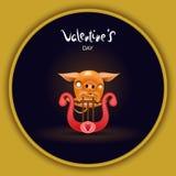 Card pig with harp dark royalty free illustration