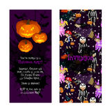 Invitation for kids Halloween party. Royalty Free Stock Photography