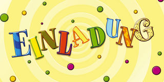 For Kids Party, Einladung Zum Kindergeburtstag Royalty Free Stock  Photography