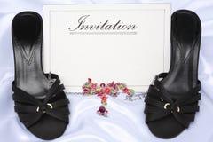 Invitation for ladies Stock Images