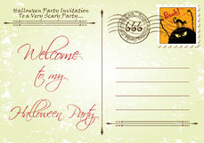 Invitation layout: Halloween Party Royalty Free Stock Photography