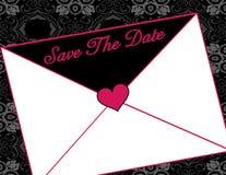 Save the date invitation. Decorative Save the Date invitation envelope illustration Stock Photography