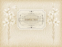 Invitation, letterhead, postcards.graceful lily. vector illustration Royalty Free Stock Photography