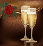 Invitation love card Stock Photo