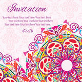 Invitation Mandala card Stock Image