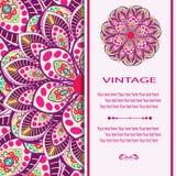 Invitation Mandala card Royalty Free Stock Photos