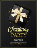 Invitation merry christmas party poster banner and card design Royalty Free Stock Photography