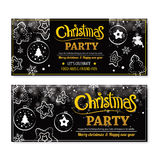 Invitation merry christmas party poster banner and card design Royalty Free Stock Image
