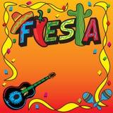 Invitation mexicaine de réception de fiesta illustration de vecteur